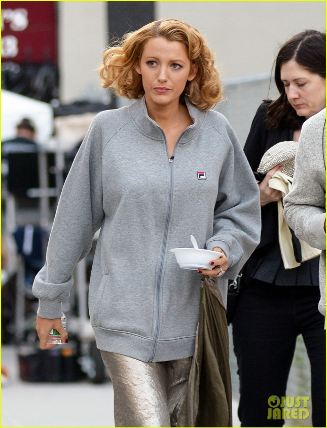 Blake Lively Spotted On Set In NYC