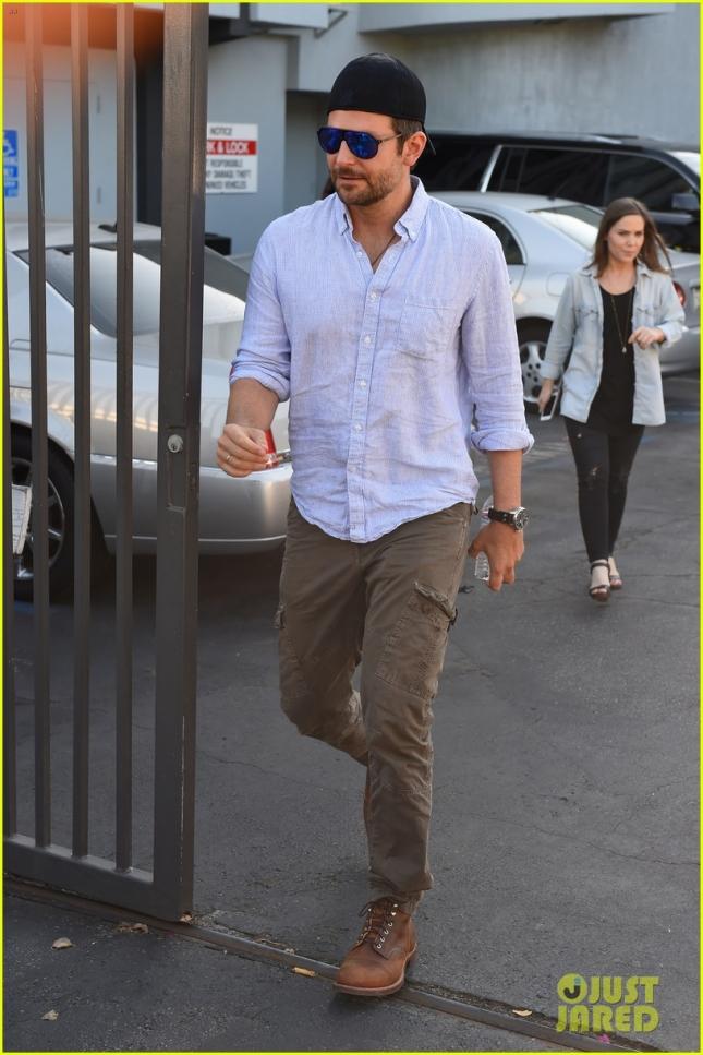 *EXCLUSIVE* Handsome Bradley Cooper leaves a movie screening in LA **NO UK**