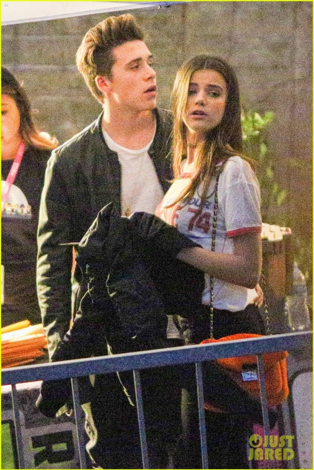 *EXCLUSIVE* Brooklyn Beckham's new girlfriend Sonia Ben Ammar can't keep her hands of him
