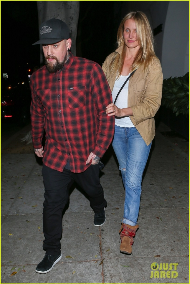 Benji Madden picks up Cameron Diaz from Meche salon **USA ONLY**