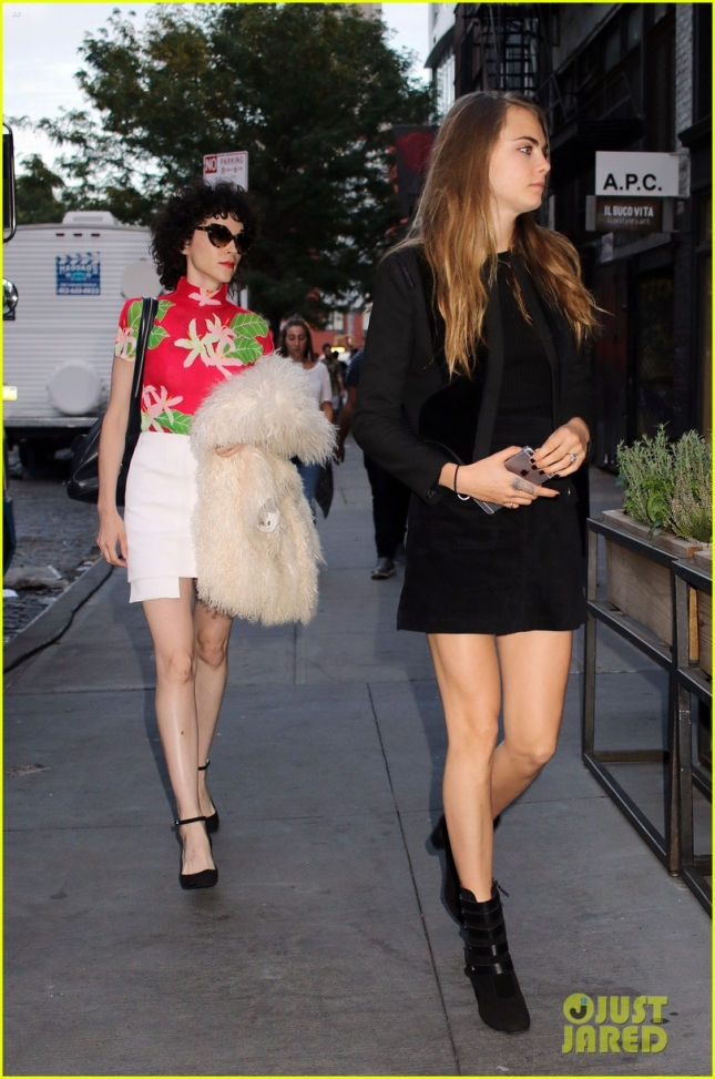 Cara Delevingne and St. Vincent Go Out to Dinner