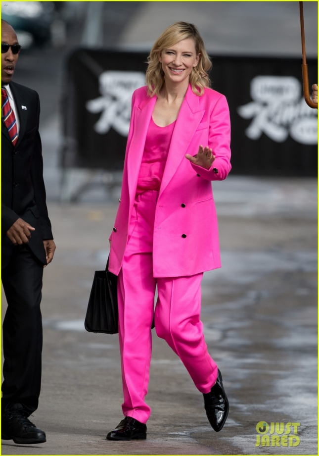 Cate Blanchett at 'Kimmel'