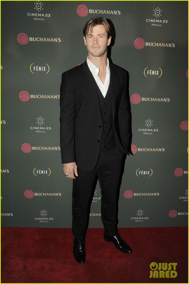 Chris Hemsworth Attends The 2015 Buchanan's Cinema Awards in Mexico