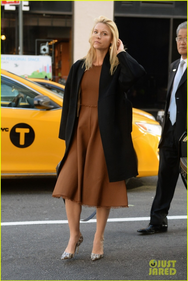 Claire Danes At SiriusXM Radio In NYC