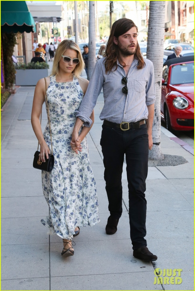 Dianna Agron and Winston Marshall run errands in Beverly Hills