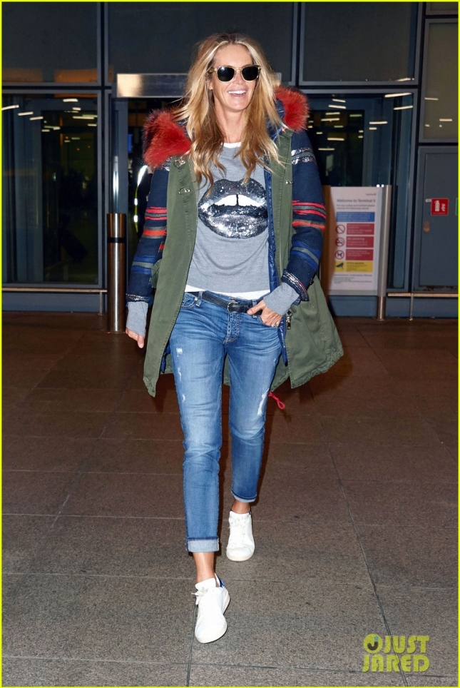 *EXCLUSIVE* Beauty Elle Macpherson is urban chic in London **USA ONLY**