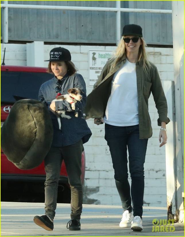 Exclusive... Actresses Ellen Page And Samantha Thomas Spotted With A New Puppy