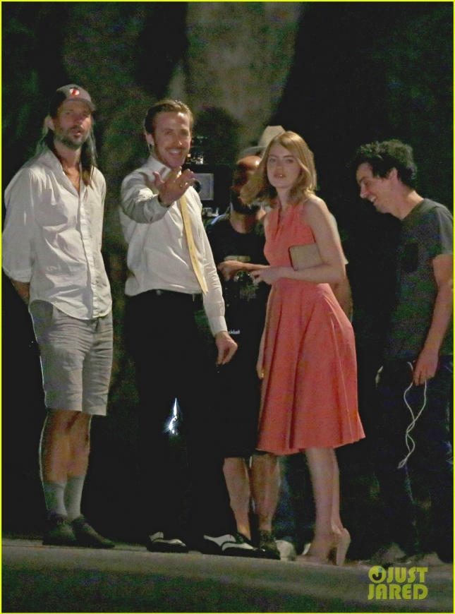 EXCLUSIVE: It's A Wrap! Ryan Gosling and Emma Stone are seen filming the last scene of 'La La Land' in Pasadena