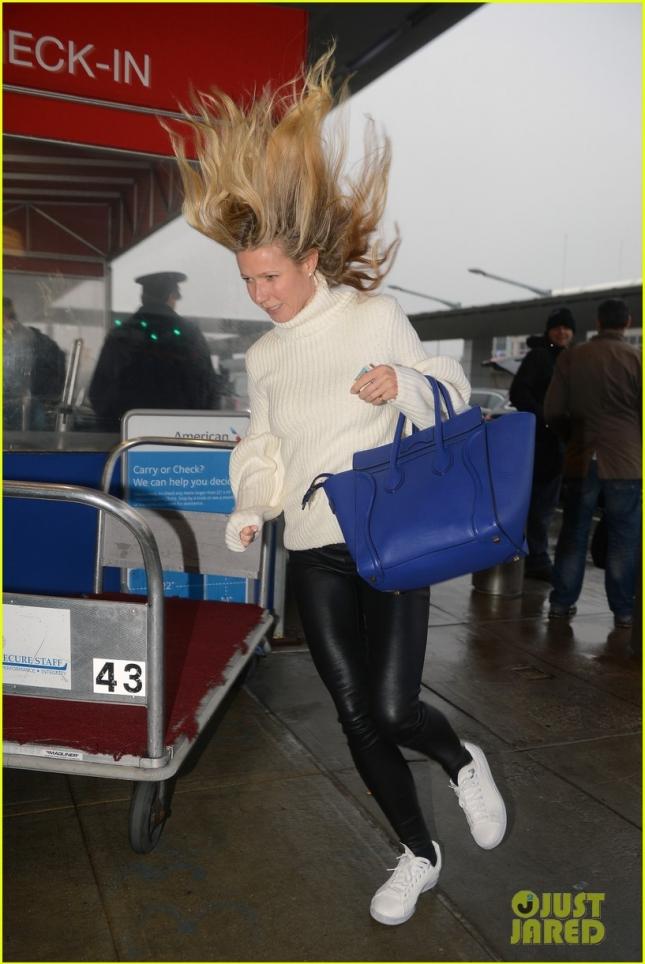 Gwyneth Paltrow Arrives at JFK International Airport