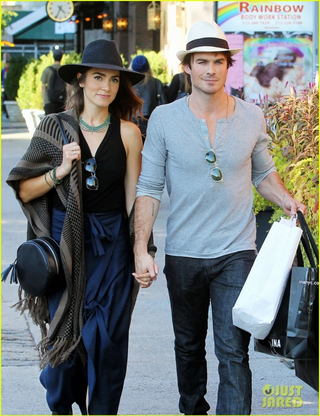 Ian Somerhalder & Nikki Reed Out And About In NYC
