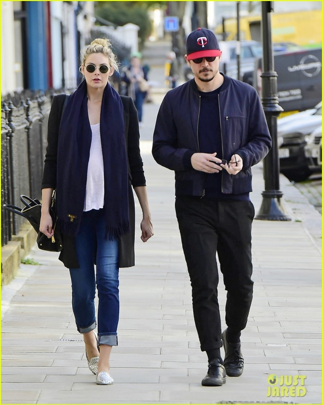 *EXCLUSIVE* Josh Hartnett and pregnant girlfriend Tamsin Egerton in London **USA ONLY**