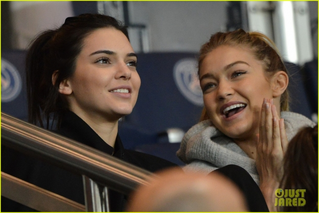 Kendall Jenner, Gigi Hadid at Paris Saint-Germain (PSG) vs Olympique de Marseille (OM) Match