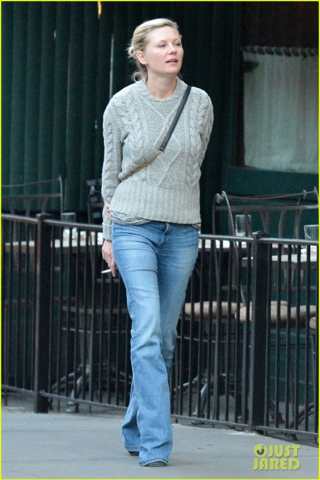 EXCLUSIVE: Kirsten Dunst seen out and about in West Village, NYC
