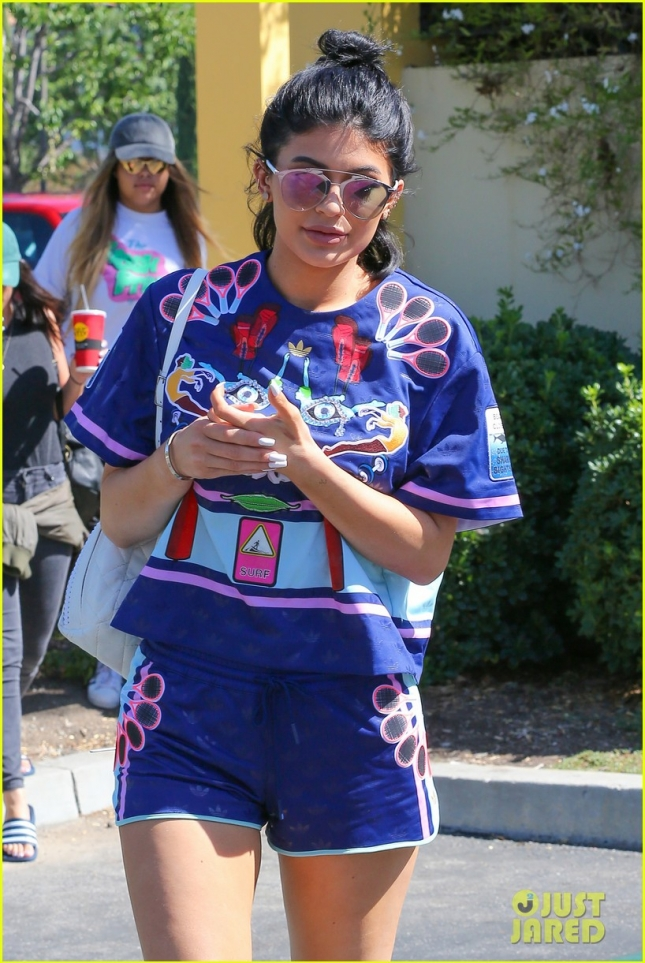 Kylie Jenner looks fresh in Adidas ensemble