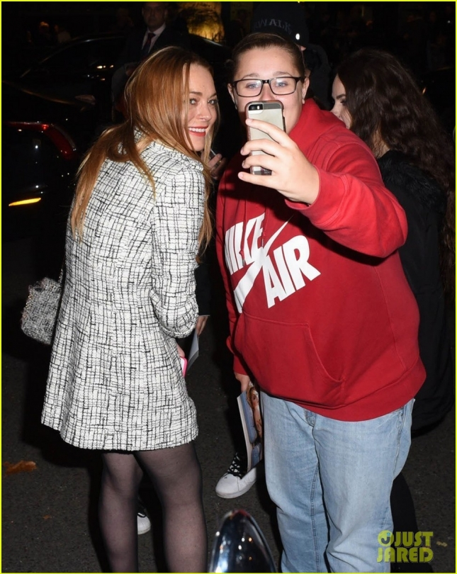 Hofit Golan & Lindsay Lohan Enjoy A Night Out In London