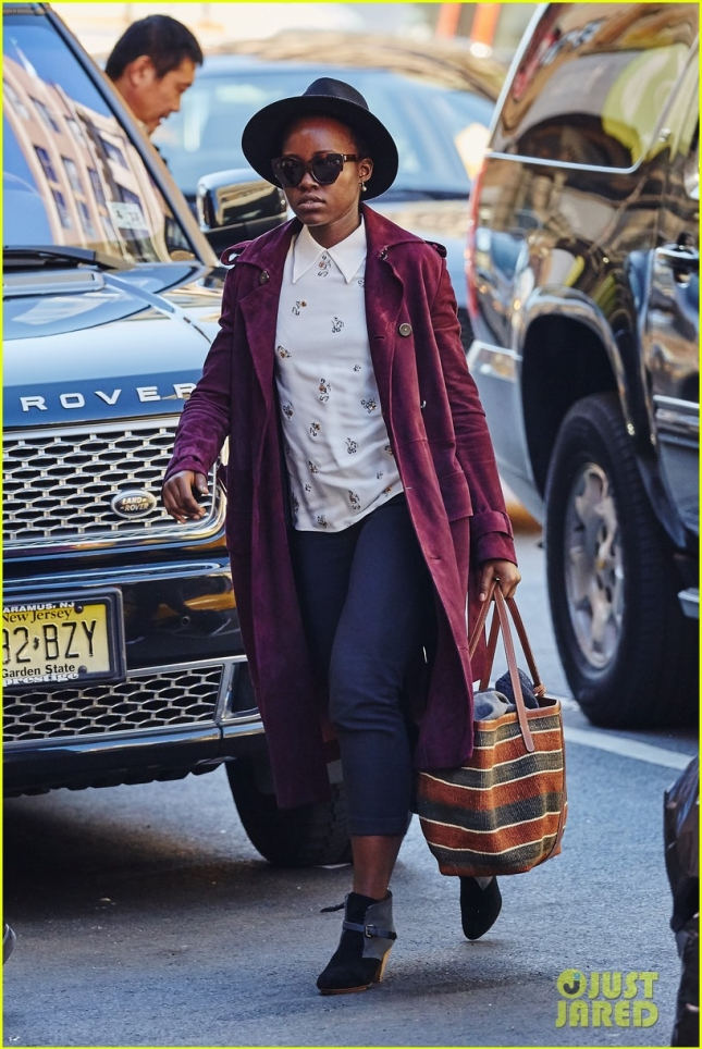 Lupita Nyong'o spotted arriving for her Broadway production 'Eclipsed' in NYC