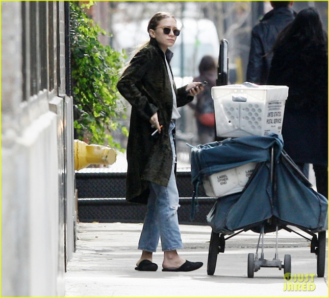EXCLUSIVE: Mary-Kate Olsen seen out and about in Tribeca, NYC