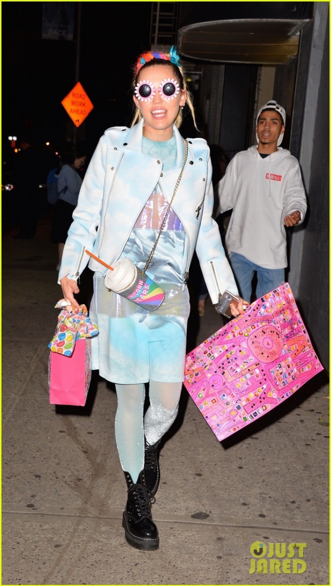Miley Cyrus seen out and about in NYC