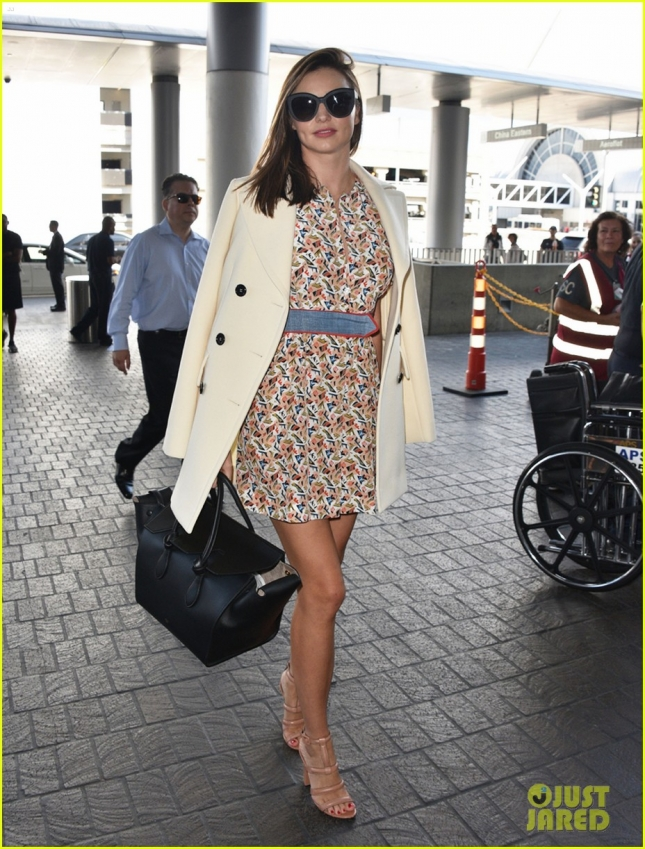 Miranda Kerr Catches A Flight At LAX