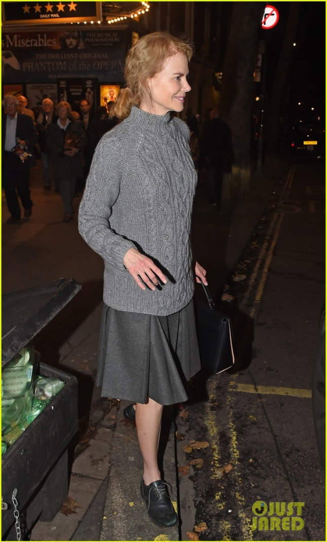 Nicole Kidman leaves the Noël Coward Theatre after her performance in 'Photograph 51'