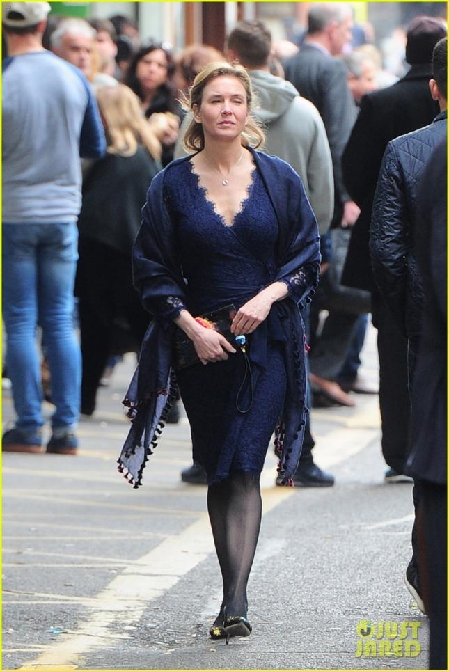 Renee Zellweger get back to work on the set of 'Bridget Jones' Baby' **USA ONLY**