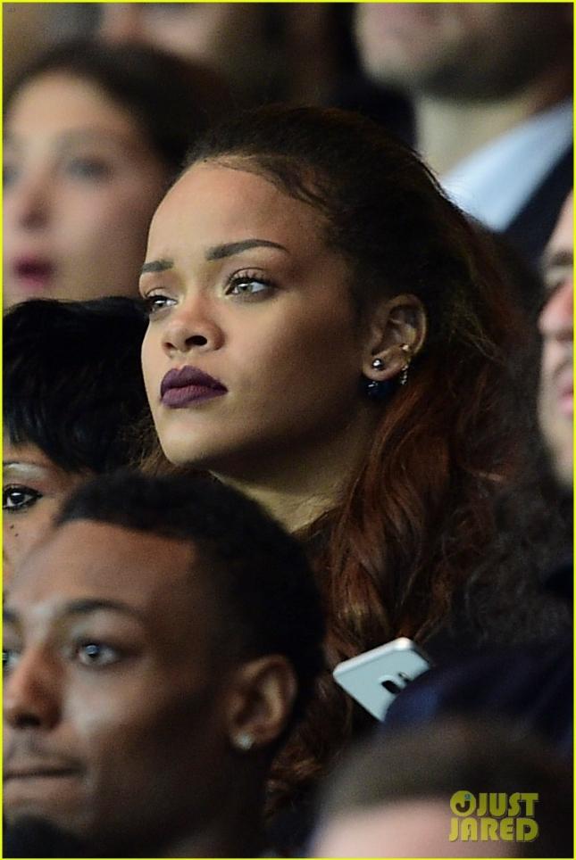 Rihanna Attends PSG-OM Match