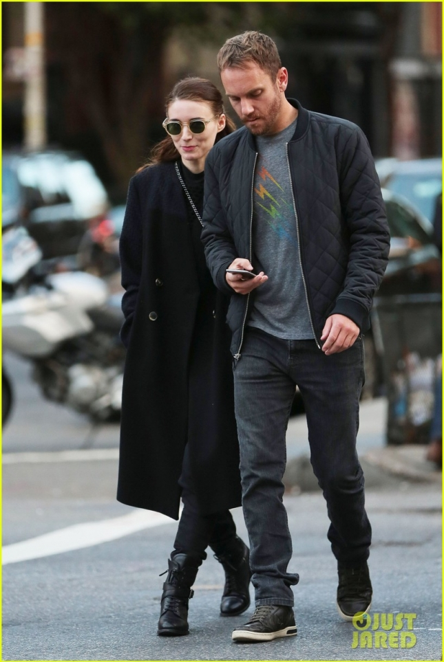 Rooney Mara & Charlie McDowell Out For A Stroll In NYC