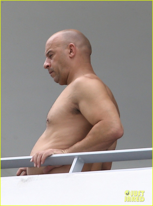 Actor Vin Diesel Spotted Out On A Balcony Relaxing