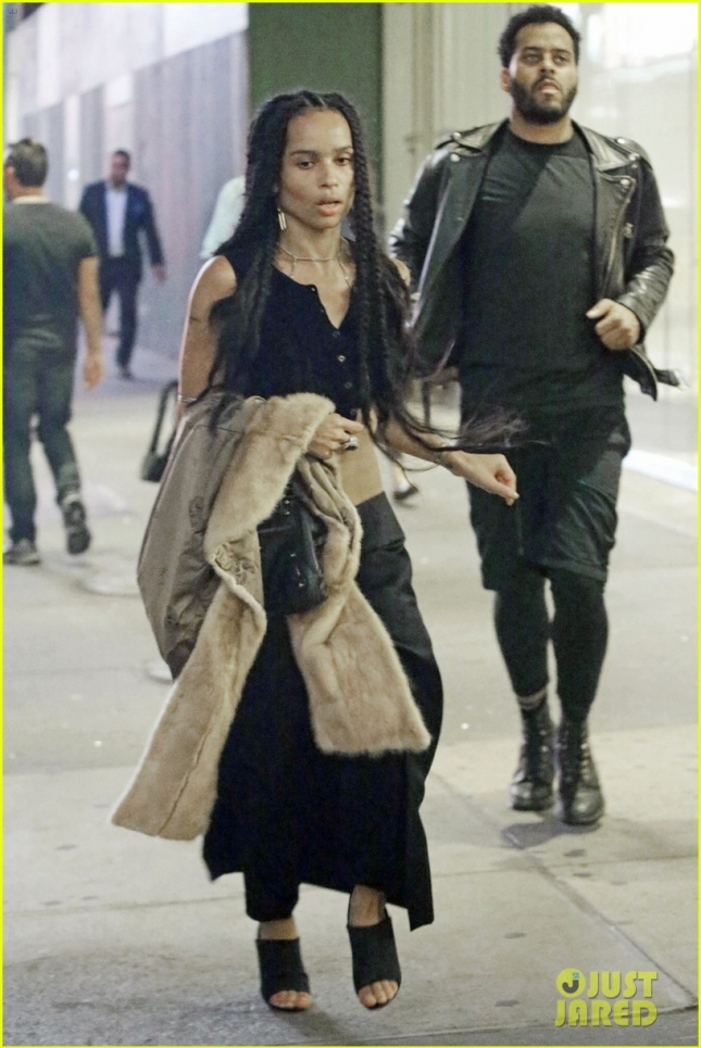 EXCLUSIVE: Zoe Kravitz and George Lewis Jr. seen running late for the 'Hamilton' musical in Broadway, NYC