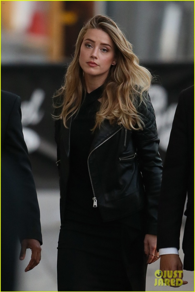 Amber Heard seen arriving at ABC studios