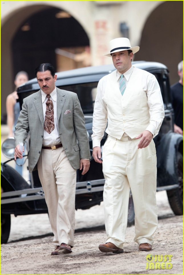 "Ben Affleck in Costume for ""Live by Night"" in Georgia"