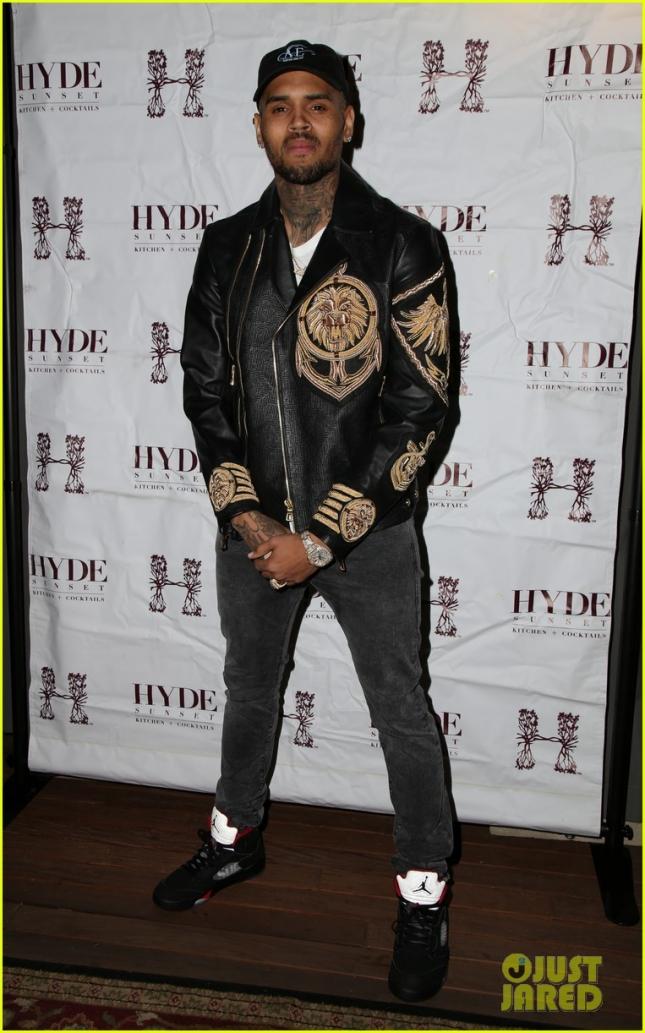 Крис Браун на закрытой презентации капсульной коллекции H&M и Balmain в Лос-Анджелесе
