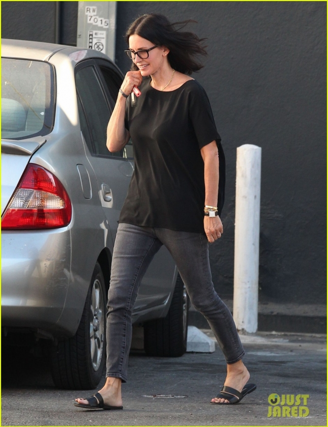 Courteney Cox Running Errands In West Hollywood