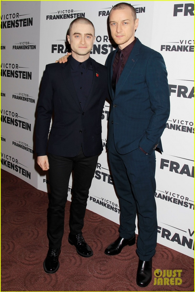 "Daniel Radcliffe and James McAvoy Attend a Special Screening of "" Victor Frankenstein"""