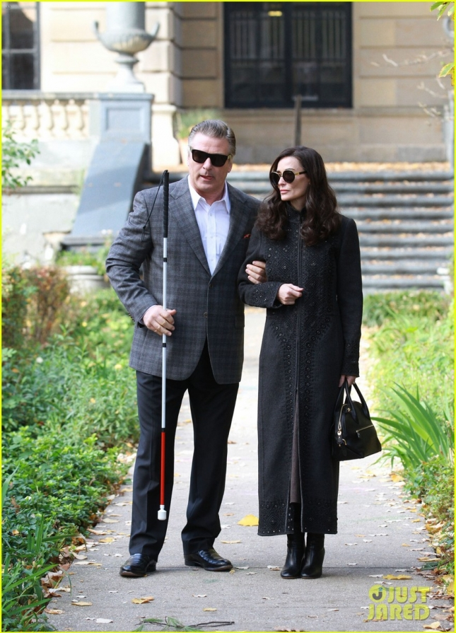 Demi Moore And Alec Baldwin On The Set Of 'Blind' In New York