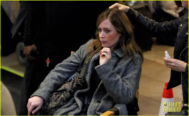 Actress Emily Blunt films 'The Girl on the Train' in Grand Central Station in New York City