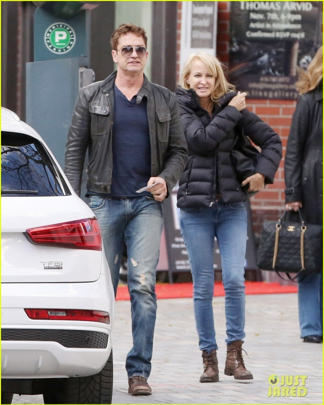 EXCLUSIVE: Gerard Butler and mystery blonde spotted together in Toronto
