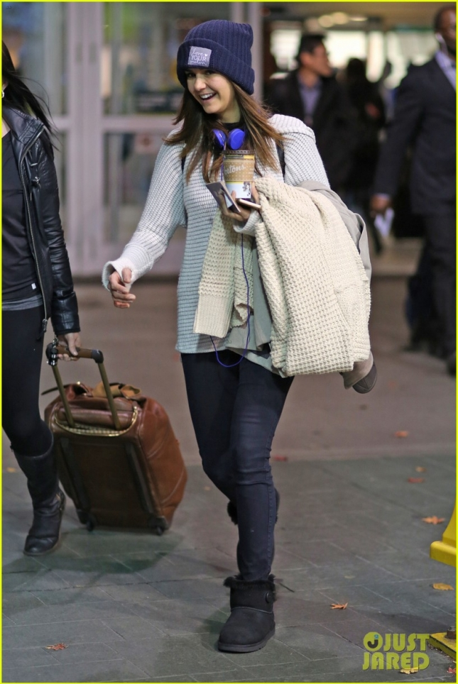 *EXCLUSIVE* Nina Dobrev arrives back in Vancouver to shoot 'Crash Pad'
