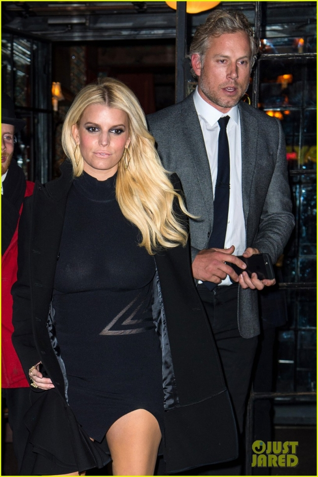 Jessica Simpson And Eric Johnson Head To An Event In NYC