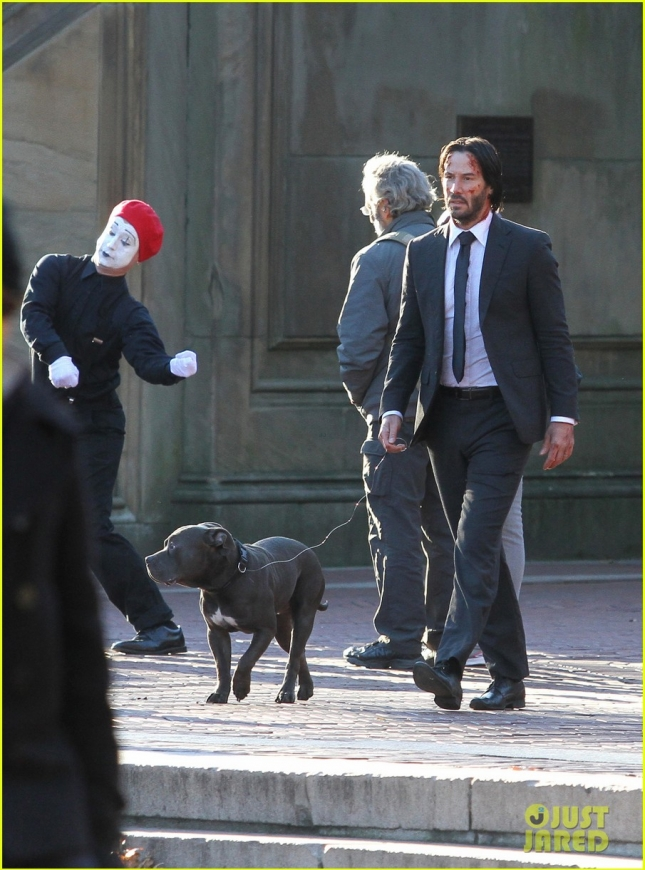 Keanu Reeves On The Set Of 'John Wick 2'