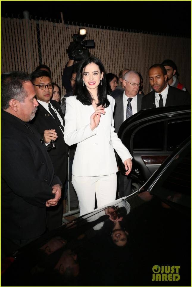Krysten Ritter seen leaving the ABC studios after the Jimmy Kimmel Live! show