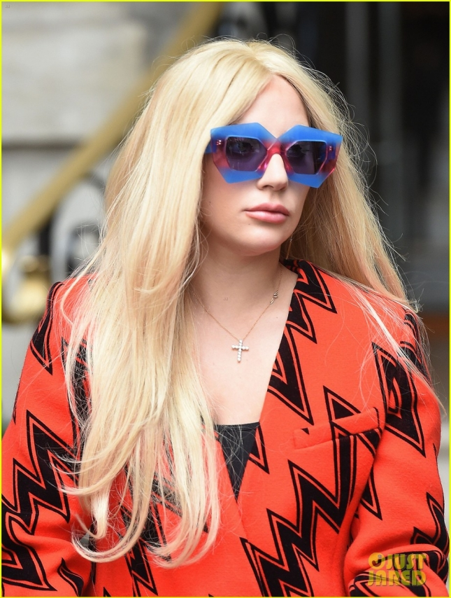 Lady Gaga Steps Out In London
