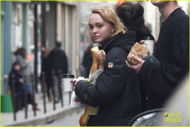 *EXCLUSIVE* Lily Rose Depp gets breakfast after a night out partying **USA ONLY** **MUST CALL FOR PRICING**