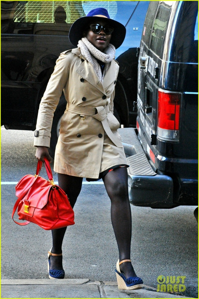Lupita Nyong'o Arrives At The Public Theater