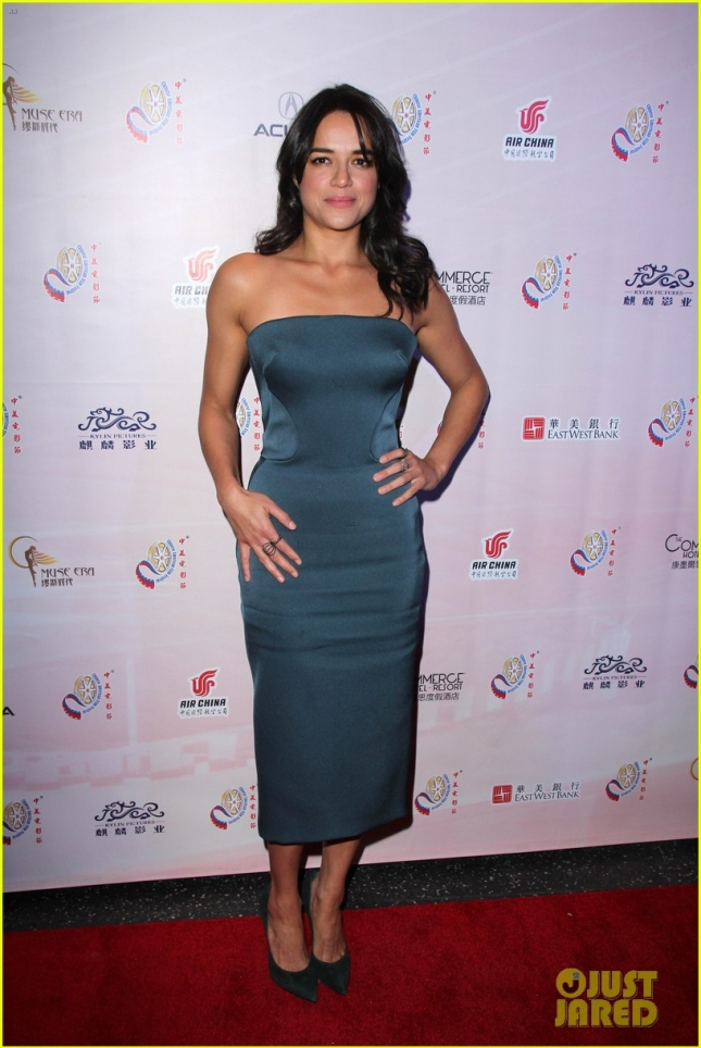 Michelle Rodriguez strikes a pose at the 11th Chinese American Film Festival