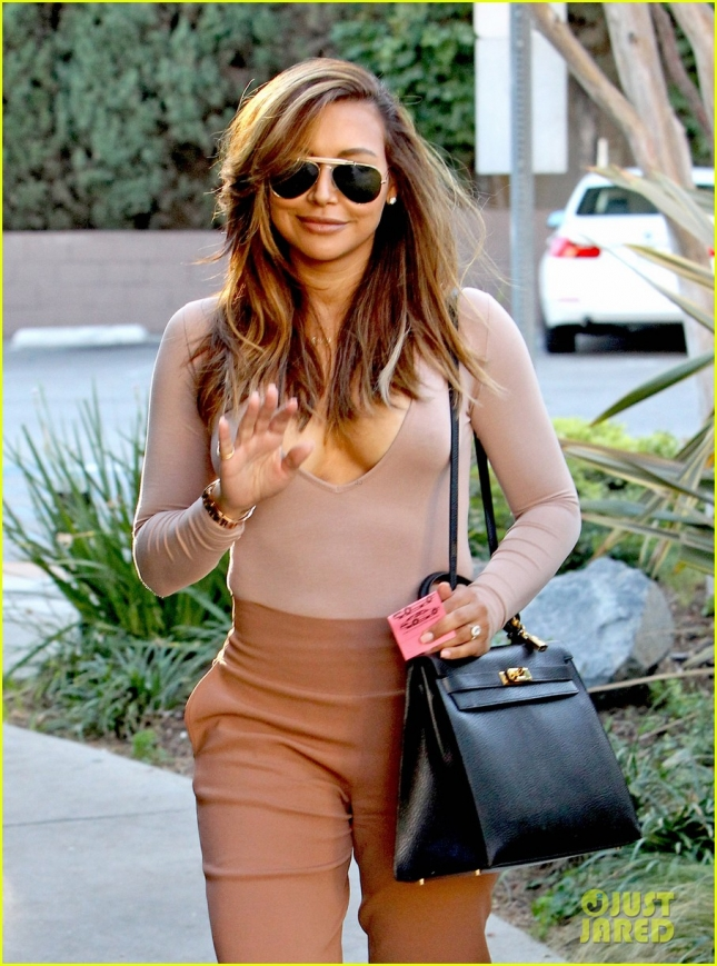 Exclusive... Naya Rivera Shows Off Her Blonde Locks In LA