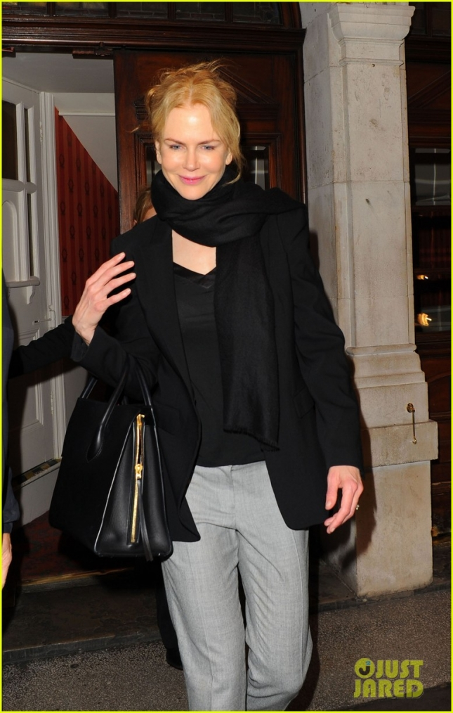 Nicole Kidman Leaves The Duke Of York's Theatre After A Performance