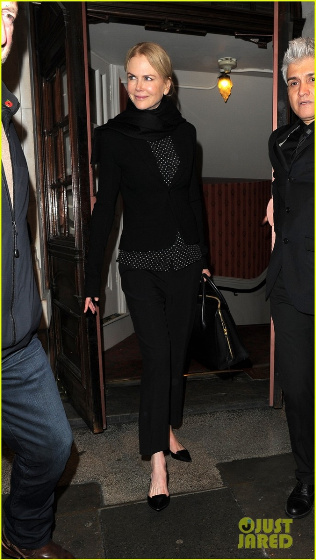 Nicole Kidman leaving Noël Coward theatre
