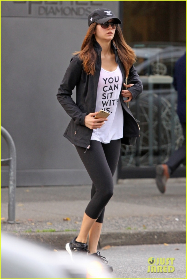 *EXCLUSIVE* Nina Dobrev loves her yoga in Vancouver