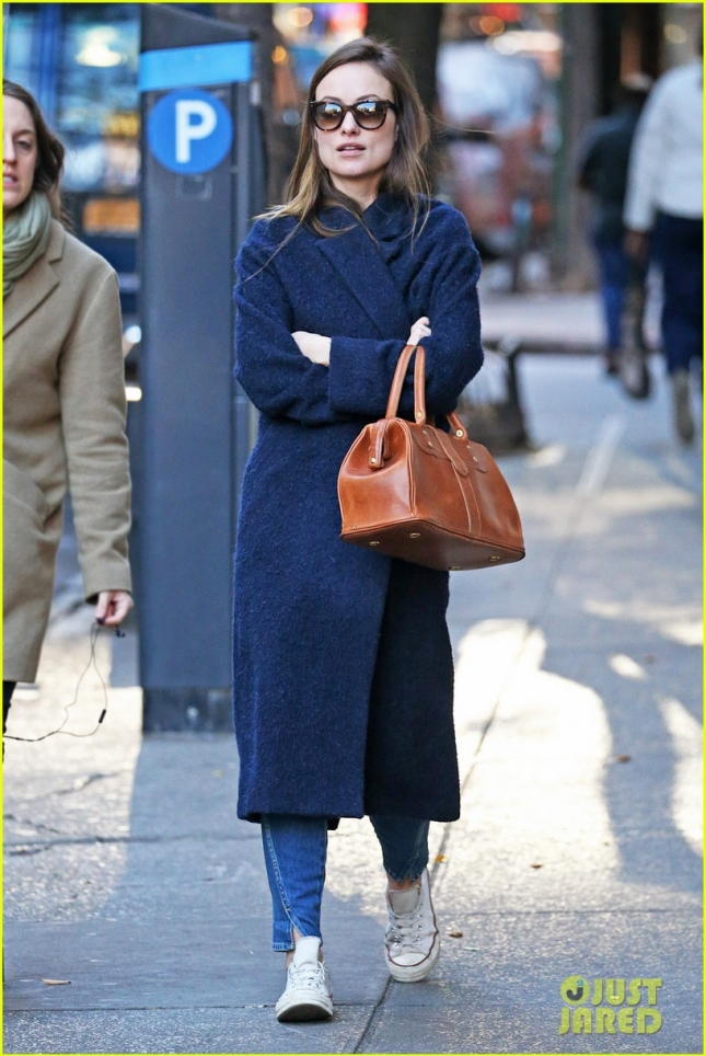 Olivia Wilde is Fuzzy and Warm in West Village